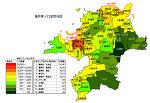 福岡県の人口密度