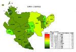 佐賀県の人口密度