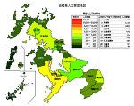 長崎県の人口密度