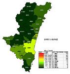 宮崎県の人口密度