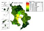 鹿児島県の人口密度