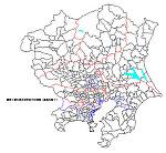関東の白地図