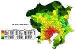 関東の人口密度