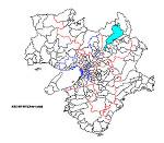 近畿の白地図