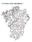 九州の白地図