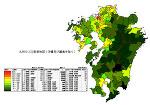 九州の人口密度