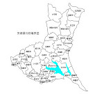 茨城県の白地図