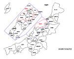 新潟県の白地図