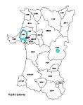 秋田県の白地図