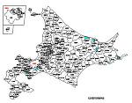 北海道の白地図