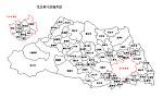 埼玉県の白地図