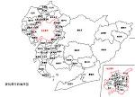 愛知県の白地図