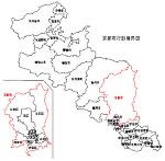 京都府の白地図