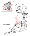 大阪府の白地図