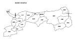 鳥取県の白地図