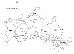 山口県の白地図