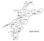 愛媛県の白地図