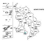 鹿児島県の白地図