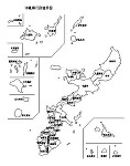 沖縄県の白地図