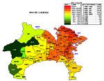 神奈川県の人口密度