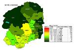栃木県の人口密度