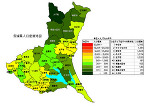 茨城県の人口密度