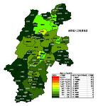 長野県の人口密度