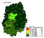 岩手県の人口密度