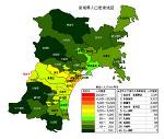 宮城県の人口密度