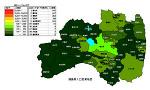 福島県の人口密度