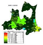 青森県の人口密度