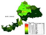 福井県の人口密度