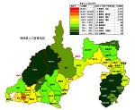 静岡県の人口密度