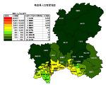 岐阜県の人口密度