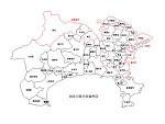 神奈川県の白地図