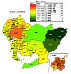 愛知県の人口密度