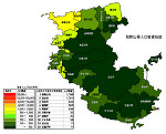 和歌山県の人口密度