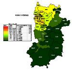 奈良県の人口密度