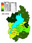 滋賀県の人口密度