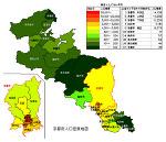 京都府の人口密度