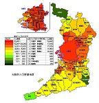 大阪府の人口密度