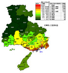 兵庫県の人口密度