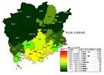 岡山県の人口密度