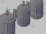 全閉外扇型モーターの3Dデータ dwg