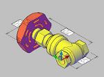ゲートバルブの3Dデータ dwg