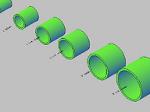 配管用ソケットの3Dデータ dwg