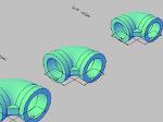 配管用エルボの3Dデータ dwg