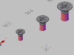 皿小ねじの3Dデータ dwg