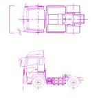 日野 トラクターヘッド 2軸