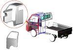 minicab_truck 3D half cabin